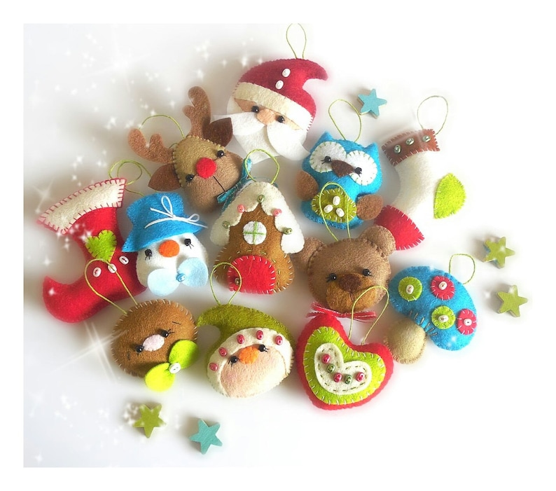 Christmas Ornaments-Set of Twelve Mini Christmas Ornament image 0