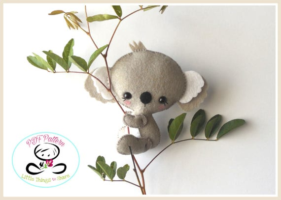 Baby Koala PDF sewing pattern-DIY-Koala bear toy | Etsy