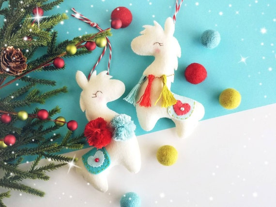 Llama Christmas Decorations.Fiesta The Llama Christmas Ornament Pdf Sewing Pattern Alpaca Ornament Stocking Stuffer Felt Ornament Pattern Diy Project