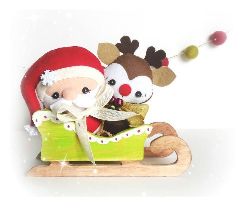 Santa Claus and Rudolph-Set of Two Ornament Patterns-PDF image 0