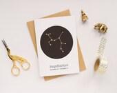 Sagittarius Card / Constellation Card / Star Sign Card / Zodiac Sign / Birthday Card / Star Sign Constellation / Sagittarius Constellation