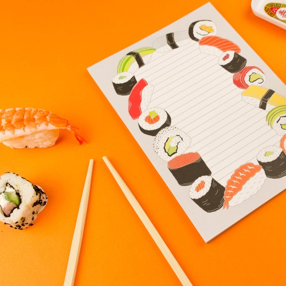 Sushi Notepad / Japan Stationery / Sushi To Do List Notebook / Cute  Stationery / Desk Planner / Sushi Notebook / Kawaii / Cute Bloc-notes