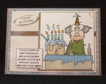 Humorous Birthday Card, Gus Birthday Card, Male Birthday Card, Male greeting Card, Humorous Male Card, 3d Decoupage Card, Handmade in UK