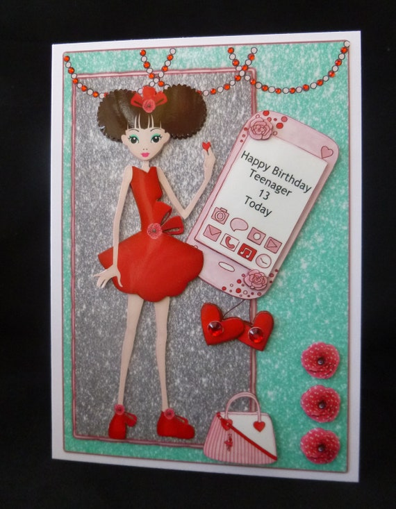 Personalised Teenage Girl Birthday Card 13th 14th 15th Etsy