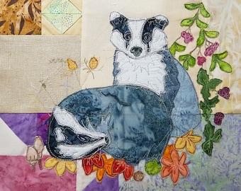 PDF Autumn wreath BOM Month 3 Badgers