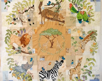 Full PDF pattern set for Circle of Life  Month 1 to 9 Africa