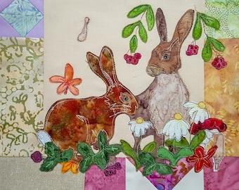 PDF Autumn wreath BOM Month 4 Hares
