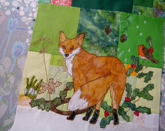 PDF Tree of Life BOM Month 4  late winter fox quilt applique pattern