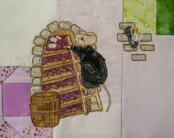 Block of the month for Victorian 'In the Town' quilt