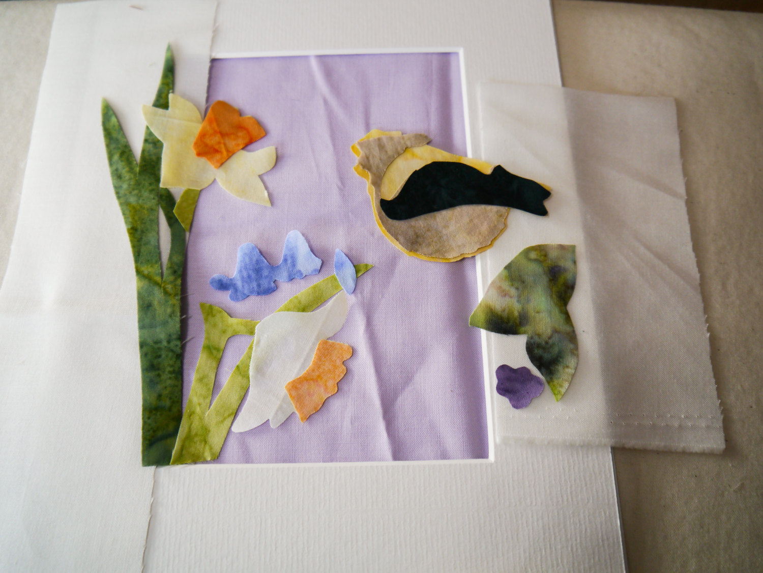 Pdf pattern for goldcrest and daffodils with printed pattern raw