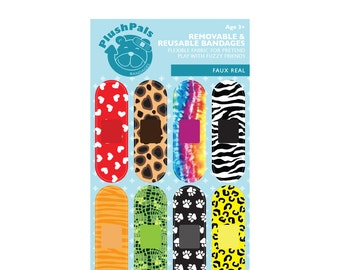 Faux Real, Removable bandages for stuffed animals, 8 bandages per pack
