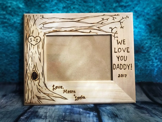Gift For Dad Dad Frame Gift For Dad Wood Burned Frame 5x7 Etsy
