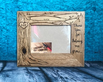 Teacher , nanny, daycare gift, wood burned frame, 5x7 caretaker gift, personalized wood frame, nanny gift, daycare provider gift