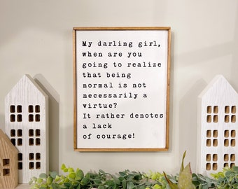 Practical Magic Movie Quote | Aunt Francis Quote | Witchy things | Witchy Movies | Witchy Wall Decor | Sally Owens
