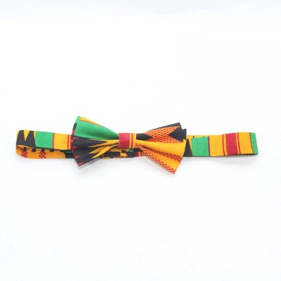 Kente Bowtie African Print Bow Tie Ankara Bowtie Kente Bow Tie Ghana Kente Bow tie for Boys Kente Bowtie for Men