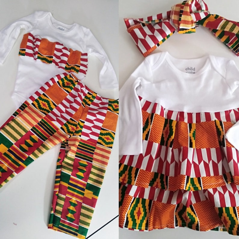 5e22ad18f NEW African Print Ankara Infant kente onesies dress with | Etsy