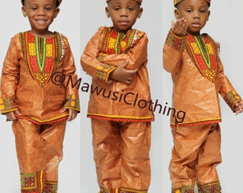 NEW African Print Ankara Boys Dashiki Set, Dashiki pants, African baby, Baby Dashiki Se, Toddler Boys Dashiki Set, Children Dashiki