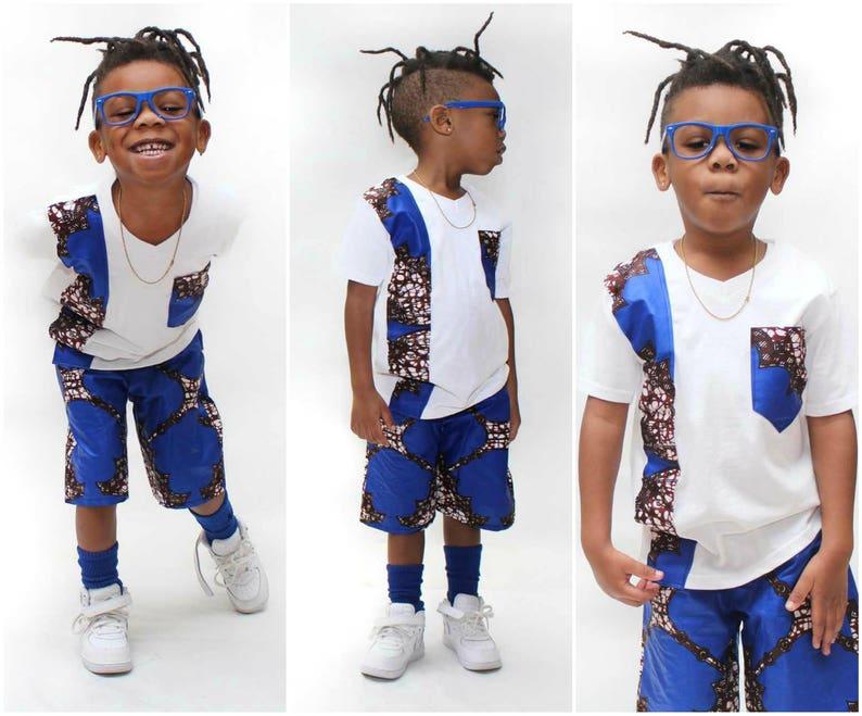 Hosen Afrikanische SetHose Neue Druck DesignKurzKleinkind Jungen AnzugT Shorts Shirt Ankara 80nwmN