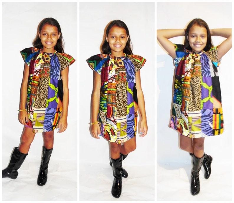 NEW African Print Ankara Marva Mix Print Skirt African Kids Peasant Dress African Fashion African Dress,Tribal Print,Dashiki Dress
