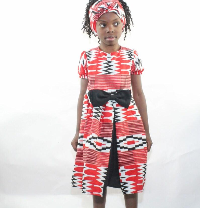KYNLEE KENTE DRESS Kente hi and low Dress Ghana Kente ...