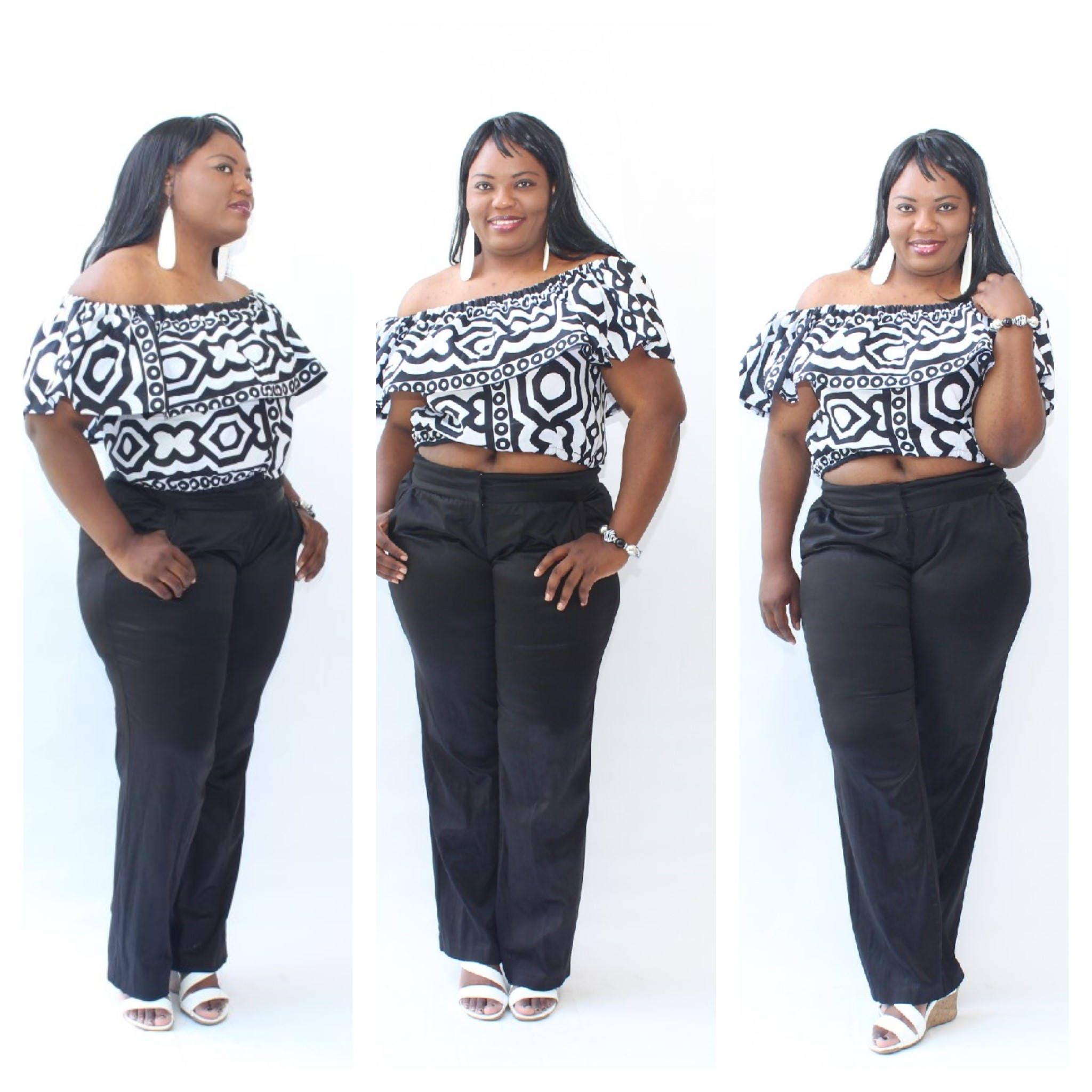 45751ef1b9dff7 NEW African Print Crop Top Tribal Print off shoulder Top