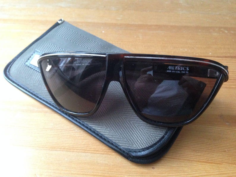 51eae529e7 Gianni Versace METRICS sunglasses wrapping mask Brown acetate | Etsy