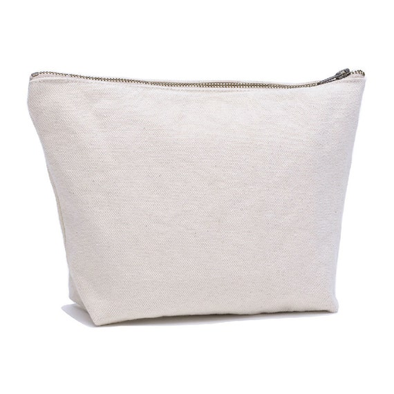 238b4e586303 Cream Canvas Cosmetic Bag White Canvas Toiletry Bag Canvas