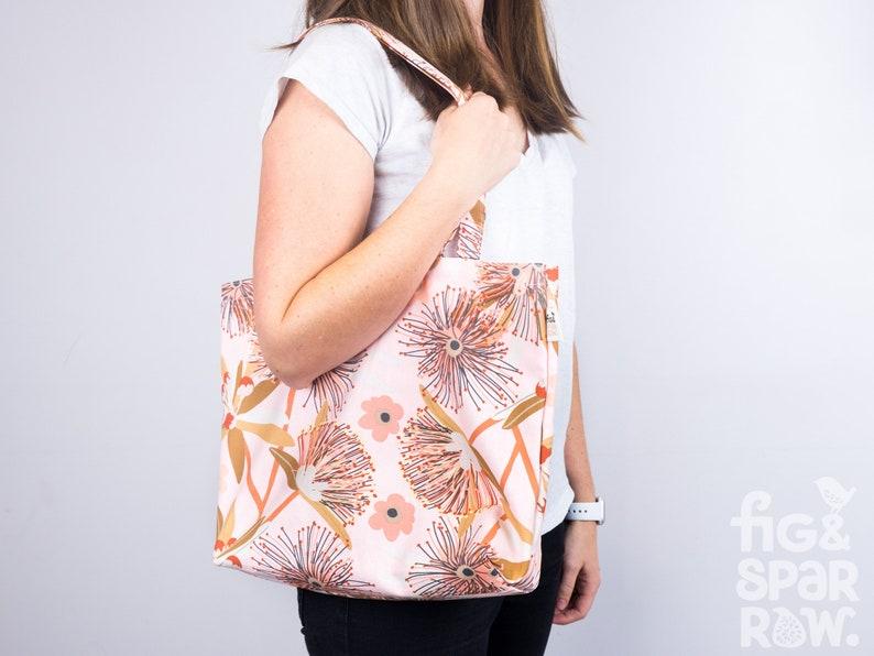Cotton Bag Little Penda Tote Bag Handbag Library bag Shopping Bag Grocery Bag Market Bag Fabric Tote Eco Reusable Childcare Bag