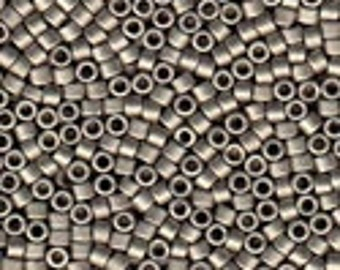 MIYUKI #11 Delica 0321 - Matte Metallic Nickel Plated - 5 grams
