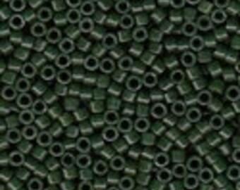 MIYUKI #11 Delica 0663 - Dyed Opaque Forest Green - 5 grams