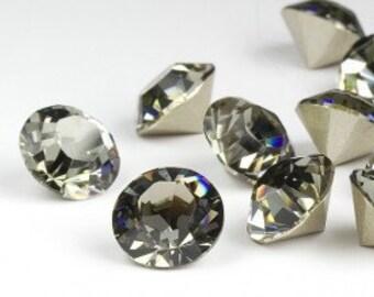 SWAROVSKI 1028 - SS29 Chaton - Black Diamond - Pack 24