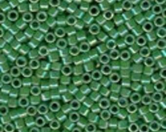 MIYUKI #11 Delica 0163 - Opaque Green AB - 5 grams
