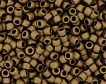 TOHO Size 15 Seed Beads - Matte Colour Dark Copper - Pack 5 grams - 15/707