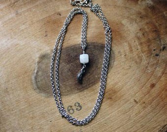 Faceted Moonstone Dangle Necklace