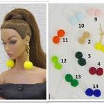 by GEMINI ~ OOAK doll jewelry earrings accessories bijoux for FR2 Fashion Royalty Poppy Parker Nu Face Barbie Momoko Silkstone