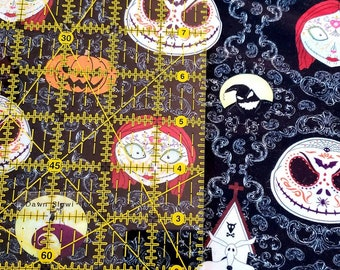 Nightmare Before Christmas Inspired Baby Girls Toddler Large Fabric Hair Bows