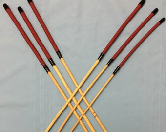 The Stern Disciplinarian Caning Set II  - Set of 6 Kooboo rattan punishment canes / school canes