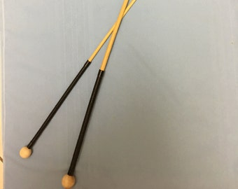 The Slave Trainer Classic Dragon Cane Set  - Set of 2 Classic Dragon Rattan Punishment Canes - Kangaroo Leather Handles w/Balltop
