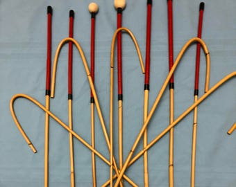 Dozen of the best BDSM Dungeon Collection - Set of 12 Classic Dragon Rattan Punishment Canes / School Canes / BDSM Canes - See Specs