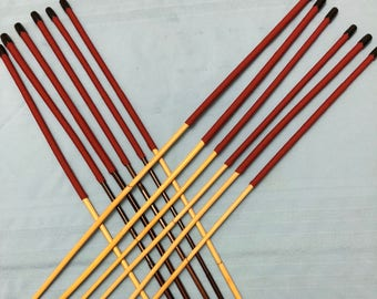 """EnglishviceCanes Painful Pleasures - Set of 12 Classic/Smoked Dragon Rattan Canes with 15"""" Extra Long Handles - See Specs"""
