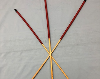 """Essential English Discipline Trio - Set of 3 Long and Whippy Classic Dragon Canes - 102-105 cms L & 9-10/10-11/11-12 mm D - 15"""" XL Handles"""