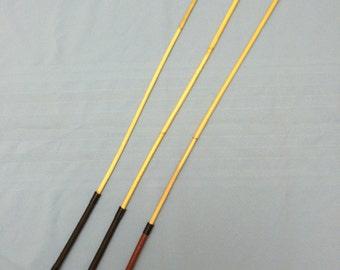 "Domina Signature Edition - Premium Kooboo Rattan School Punishment Cane w/ Top Grain Leather Handle - 34-36"" Length & 3/8"" (9.5mm) Thickness"