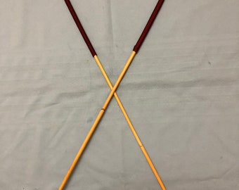 "Classic Dragon Cane Duo - Set of 2 Classic Long and Whippy Dragon Canes - 105 cms L & 9-10/10-11 mm D - 15"" XL Handles"