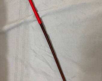 The Regina Smoked Dragon Cane - Imperial Red Paracord  - 105 cms L & 12.5-13 mm D - One off piece