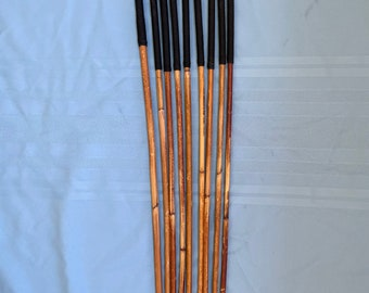 SALES SPECIAL - Set of 9 Classic Dragon Rattan Punishment Canes / School Canes / BDSM Canes ( Black Handles) - See specs
