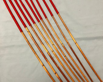 SALES SPECIAL - Set of 9 Classic Dragon Rattan Punishment Canes / School Canes / BDSM Canes(Imperial Red Handles) - See specs