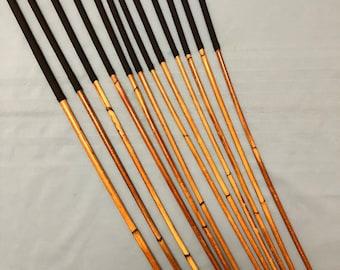 SALES SPECIAL - Set of 12 Classic Dragon Rattan Punishment Canes / School Canes/ BDSM Canes Black Handles)  -See specs