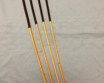 "Classic Dragon Cane Quartet Set of 4 Dragon Canes - 15"" XL Handles (Brown)- Coated finish - 100 cms L & 9-10/10-11/11-12/12-13mm D"