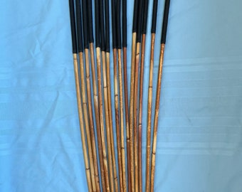 SALES SPECIAL - Set of 15 Classic Dragon Rattan Punishment Canes / School Canes / BDSM Canes ( Black Handles) - See specs