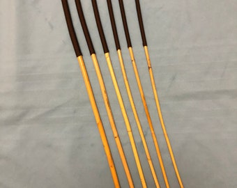 Six of the Best - Set of 6 Classic Kooboo Rattan Punishment canes / School Canes/ BDSM Canes -BROWN Handles